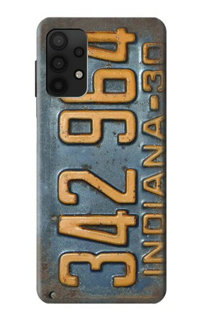 S3750 ヴィンテージ車のナンバープレート Vintage Vehicle Registration Plate Samsung Galaxy A32 4G バックケース、フリップケース・カバー