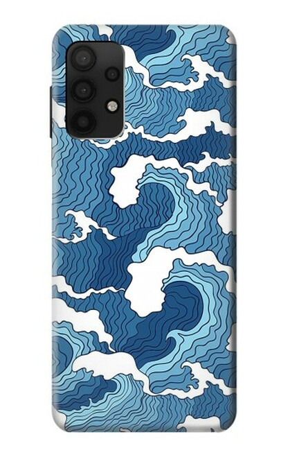 S3751 波のパターン Wave Pattern Samsung Galaxy A32 4G バックケース、フリップケース・カバー