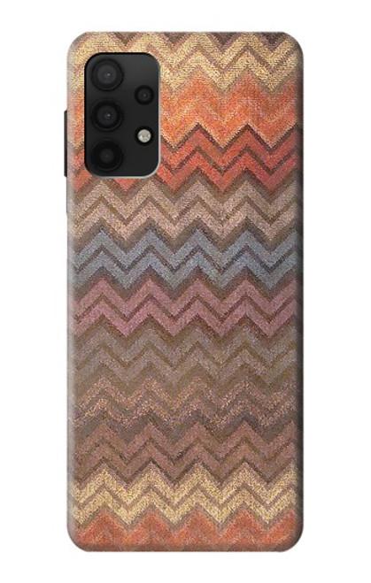 S3752 ジグザグ生地パターングラフィックプリント Zigzag Fabric Pattern Graphic Printed Samsung Galaxy A32 4G バックケース、フリップケース・カバー