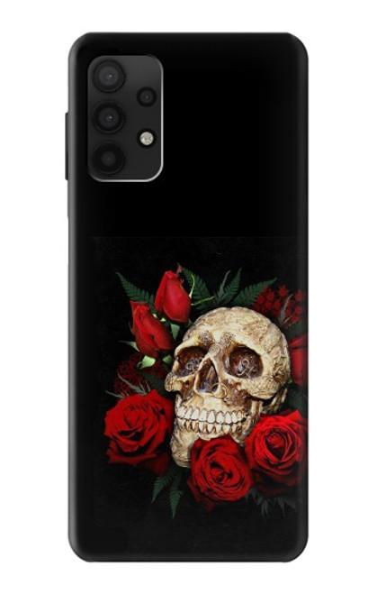 S3753 ダークゴシックゴススカルローズ Dark Gothic Goth Skull Roses Samsung Galaxy A32 4G バックケース、フリップケース・カバー
