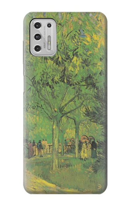 S3748 フィンセント・ファン・ゴッホ パブリックガーデンの車線 Van Gogh A Lane in a Public Garden Motorola Moto G Stylus (2021) バックケース、フリップケース・カバー