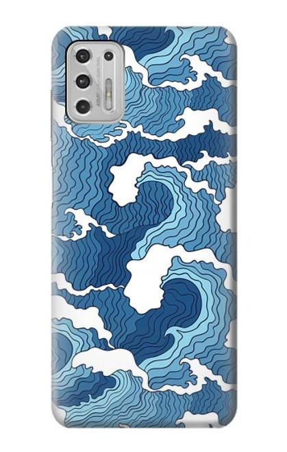 S3751 波のパターン Wave Pattern Motorola Moto G Stylus (2021) バックケース、フリップケース・カバー