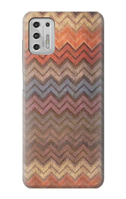 S3752 ジグザグ生地パターングラフィックプリント Zigzag Fabric Pattern Graphic Printed Motorola Moto G Stylus (2021) バックケース、フリップケース・カバー