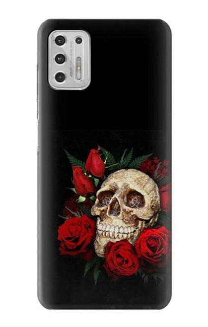 S3753 ダークゴシックゴススカルローズ Dark Gothic Goth Skull Roses Motorola Moto G Stylus (2021) バックケース、フリップケース・カバー