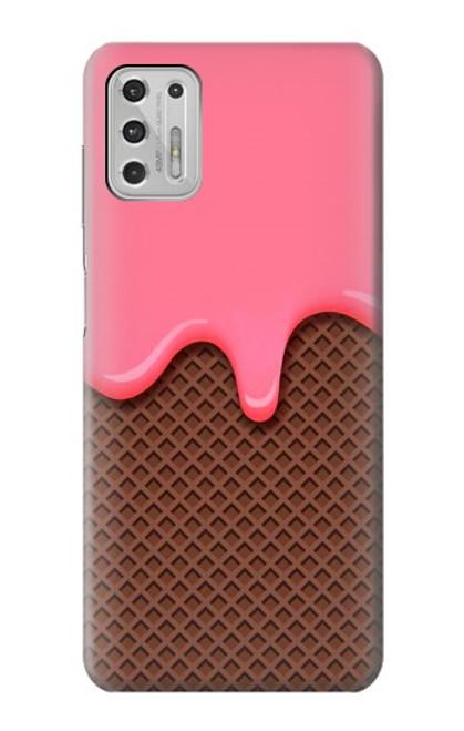 S3754 ストロベリーアイスクリームコーン Strawberry Ice Cream Cone Motorola Moto G Stylus (2021) バックケース、フリップケース・カバー