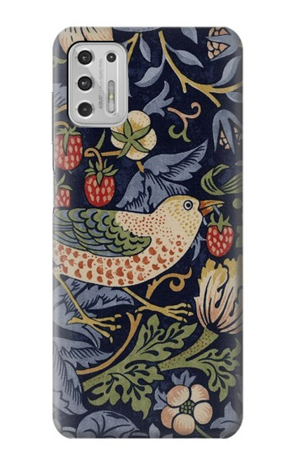 S3791 ウィリアムモリスストロベリーシーフ生地 William Morris Strawberry Thief Fabric Motorola Moto G Stylus (2021) バックケース、フリップケース・カバー