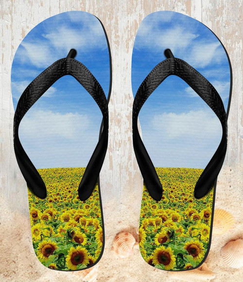 FA0018 ひまわり Sunflower 夏サンダル ビーチサンダル  メンズ レディース ユニセックス