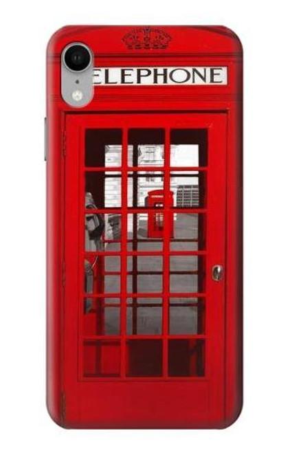 S0058 ロンドン〔イギリス〕の赤い電話ボックス Classic British Red Telephone Box iPhone XR バックケース、フリップケース・カバー