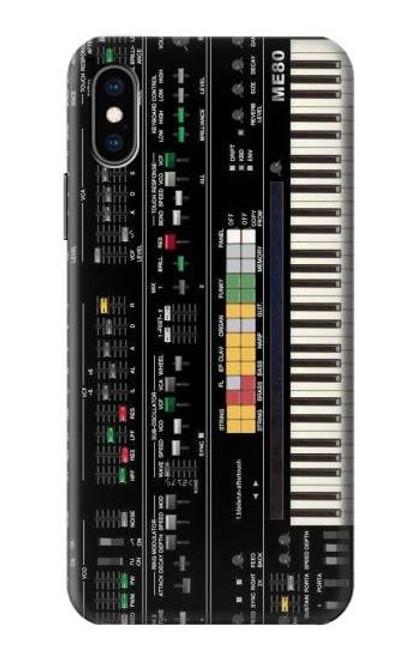 S0061 シンセサイザー Synthesizer iPhone X, iPhone XS バックケース、フリップケース・カバー