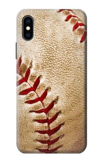 S0064 野球 ベースボール Baseball iPhone X, iPhone XS バックケース、フリップケース・カバー