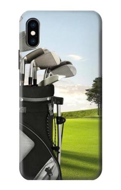 S0067 ゴルフ Golf iPhone X, iPhone XS バックケース、フリップケース・カバー