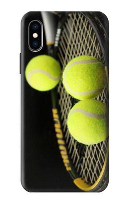 S0072 テニス Tennis iPhone X, iPhone XS バックケース、フリップケース・カバー
