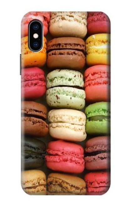 S0080 マカロン Macarons iPhone X, iPhone XS バックケース、フリップケース・カバー