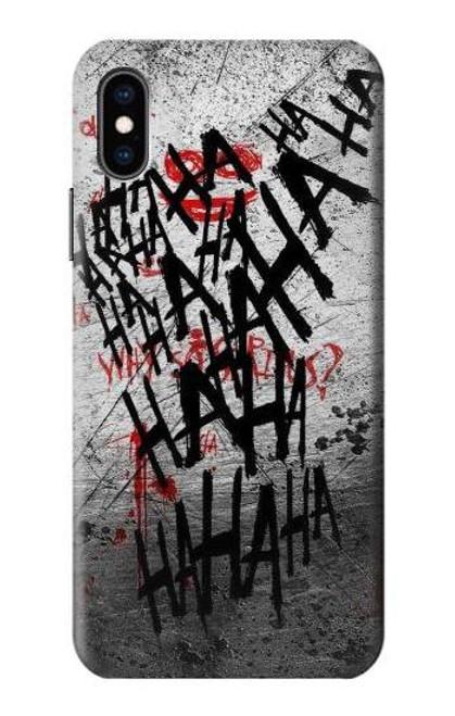 S3073 ジョーカー ハハハ・ブラッド・スプラッシュ Joker Hahaha Blood Splash iPhone X, iPhone XS バックケース、フリップケース・カバー