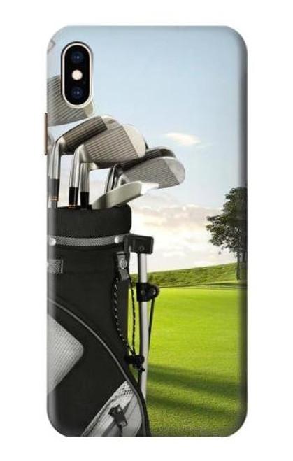 S0067 ゴルフ Golf iPhone XS Max バックケース、フリップケース・カバー