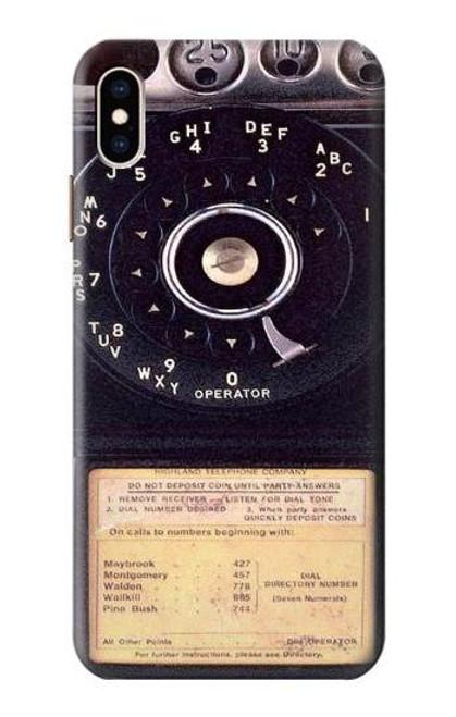 S0086 ヴィンテージ 公衆電話 Payphone Vintage iPhone XS Max バックケース、フリップケース・カバー