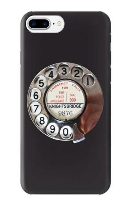 S0059 レトロなダイヤル式の電話ダイヤル Retro Rotary Phone Dial On iPhone 7 Plus, iPhone 8 Plus バックケース、フリップケース・カバー