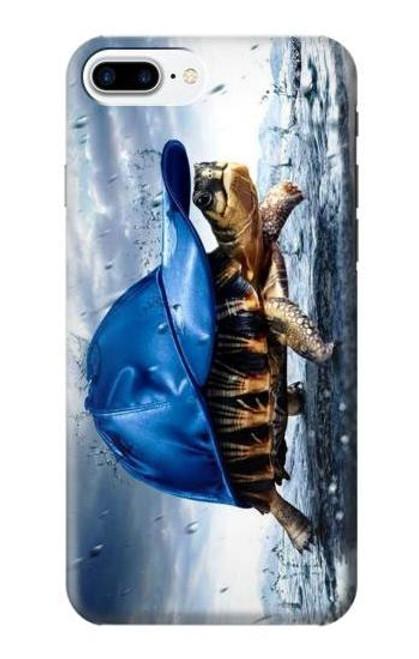 S0084 雨でかめ Turtle in the Rain iPhone 7 Plus, iPhone 8 Plus バックケース、フリップケース・カバー