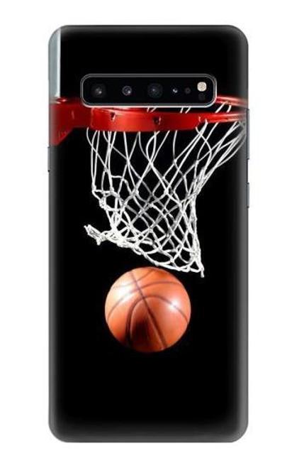 S0066 バスケットボール Basketball Samsung Galaxy S10 5G バックケース、フリップケース・カバー