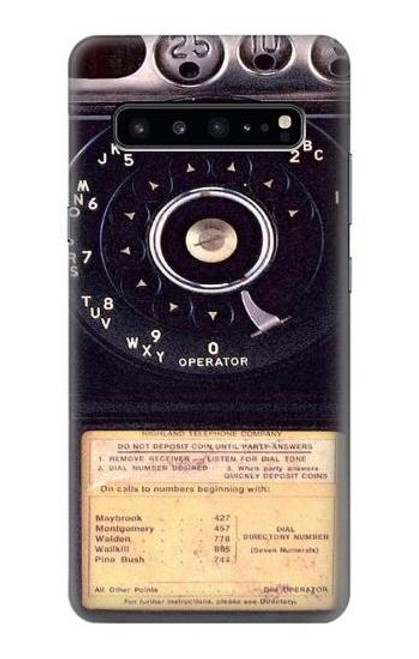 S0086 ヴィンテージ 公衆電話 Payphone Vintage Samsung Galaxy S10 5G バックケース、フリップケース・カバー