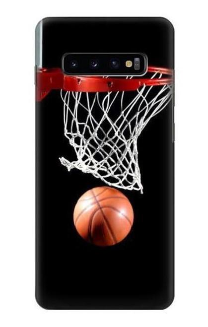 S0066 バスケットボール Basketball Samsung Galaxy S10 Plus バックケース、フリップケース・カバー