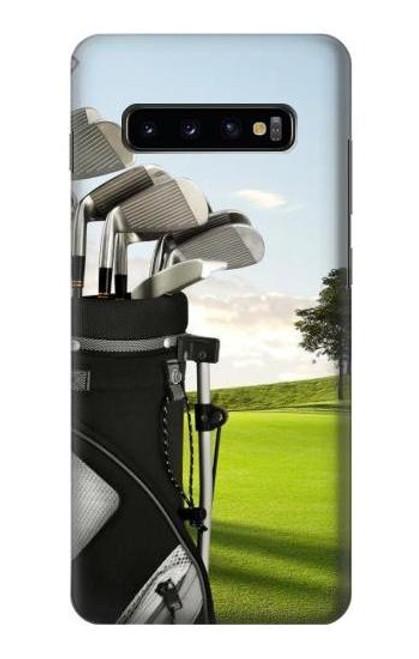 S0067 ゴルフ Golf Samsung Galaxy S10 Plus バックケース、フリップケース・カバー