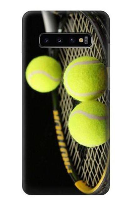 S0072 テニス Tennis Samsung Galaxy S10 Plus バックケース、フリップケース・カバー
