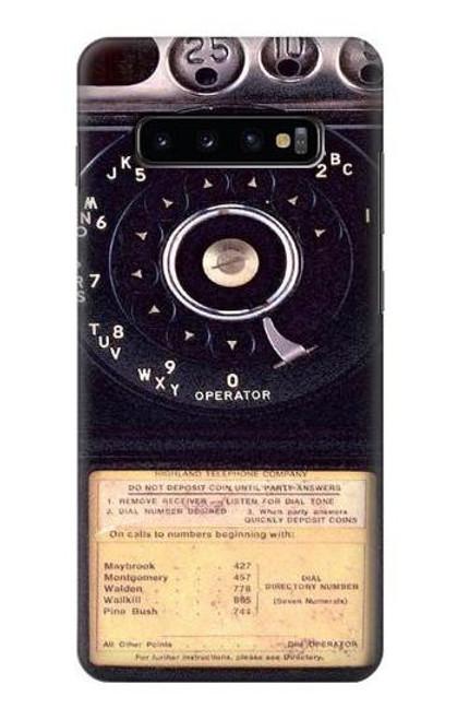 S0086 ヴィンテージ 公衆電話 Payphone Vintage Samsung Galaxy S10 Plus バックケース、フリップケース・カバー