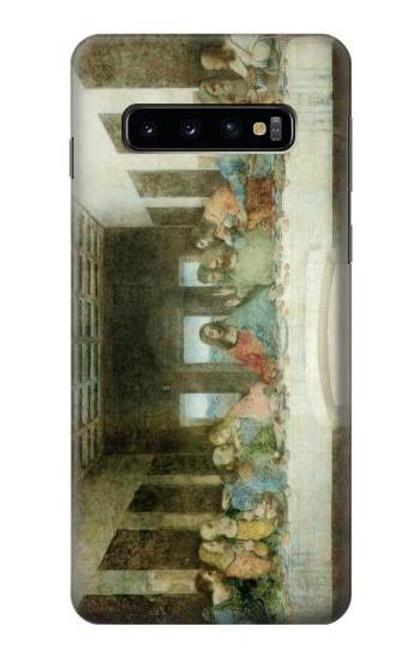 S0173 レオナルドダヴィンチ最後の晩餐 Leonardo DaVinci The Last Supper Samsung Galaxy S10 バックケース、フリップケース・カバー