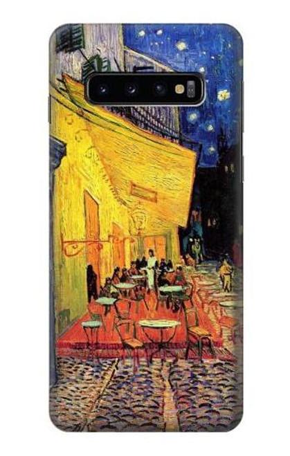 S0929 夜のカフェテラス フィンセント・ファン・ゴッホ Van Gogh Cafe Terrace Samsung Galaxy S10 バックケース、フリップケース・カバー