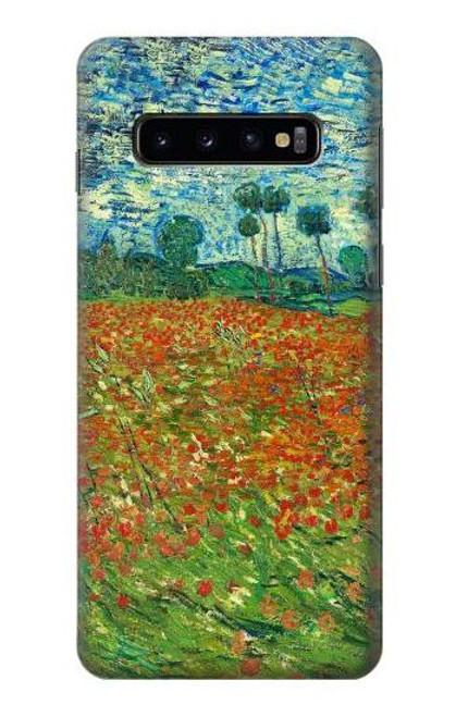 S2681 フィールドポピーのヴィンセント・ヴァン・ゴッホ Field Of Poppies Vincent Van Gogh Samsung Galaxy S10 バックケース、フリップケース・カバー