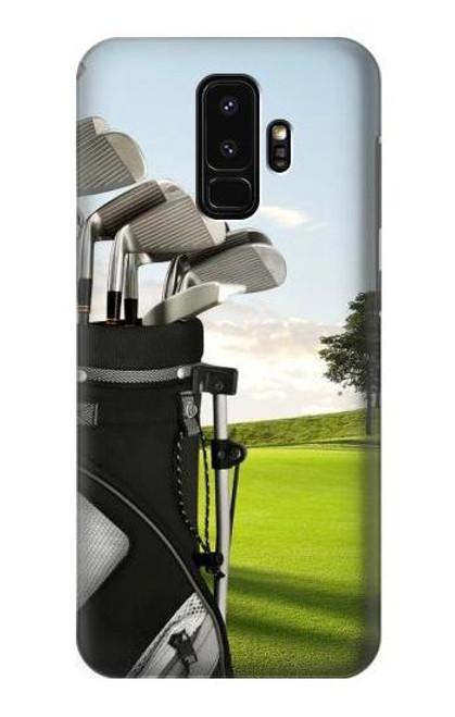 S0067 ゴルフ Golf Samsung Galaxy S9 Plus バックケース、フリップケース・カバー