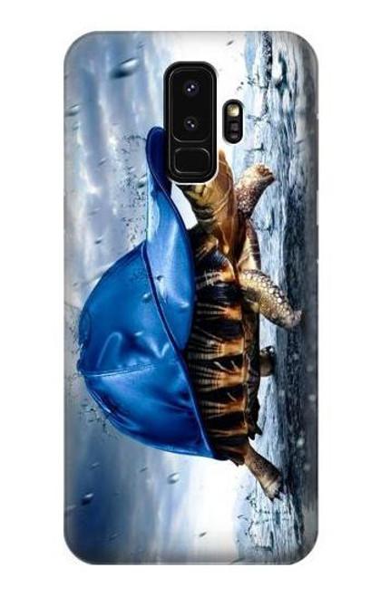 S0084 雨でかめ Turtle in the Rain Samsung Galaxy S9 Plus バックケース、フリップケース・カバー
