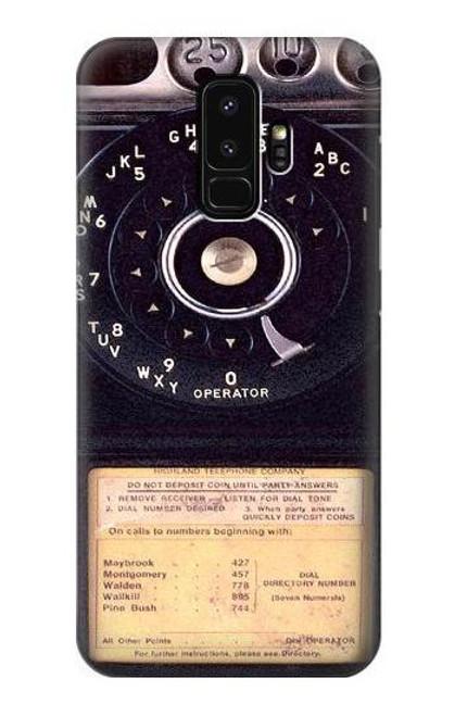 S0086 ヴィンテージ 公衆電話 Payphone Vintage Samsung Galaxy S9 Plus バックケース、フリップケース・カバー