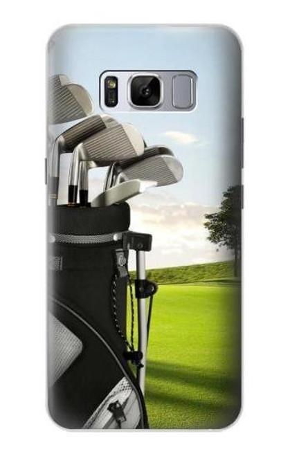 S0067 ゴルフ Golf Samsung Galaxy S8 バックケース、フリップケース・カバー