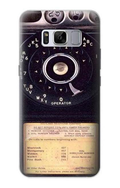 S0086 ヴィンテージ 公衆電話 Payphone Vintage Samsung Galaxy S8 バックケース、フリップケース・カバー