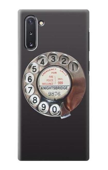 S0059 レトロなダイヤル式の電話ダイヤル Retro Rotary Phone Dial On Samsung Galaxy Note 10 バックケース、フリップケース・カバー
