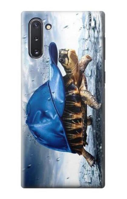 S0084 雨でかめ Turtle in the Rain Samsung Galaxy Note 10 バックケース、フリップケース・カバー