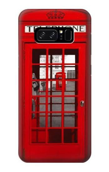 S0058 ロンドン〔イギリス〕の赤い電話ボックス Classic British Red Telephone Box Note 8 Samsung Galaxy Note8 バックケース、フリップケース・カバー