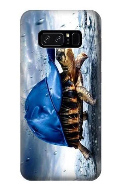 S0084 雨でかめ Turtle in the Rain Note 8 Samsung Galaxy Note8 バックケース、フリップケース・カバー