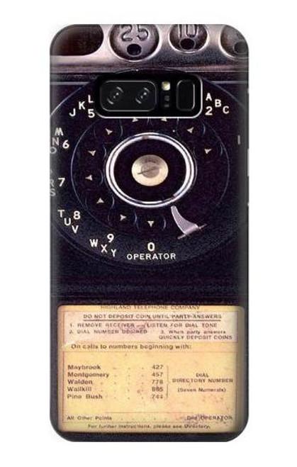 S0086 ヴィンテージ 公衆電話 Payphone Vintage Note 8 Samsung Galaxy Note8 バックケース、フリップケース・カバー
