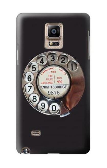 S0059 レトロなダイヤル式の電話ダイヤル Retro Rotary Phone Dial On Samsung Galaxy Note 4 バックケース、フリップケース・カバー
