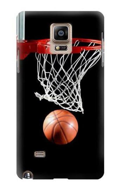 S0066 バスケットボール Basketball Samsung Galaxy Note 4 バックケース、フリップケース・カバー