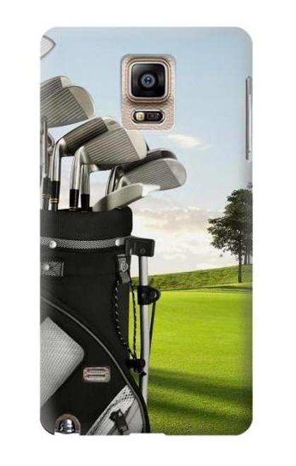 S0067 ゴルフ Golf Samsung Galaxy Note 4 バックケース、フリップケース・カバー