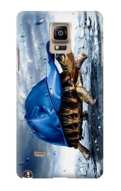 S0084 雨でかめ Turtle in the Rain Samsung Galaxy Note 4 バックケース、フリップケース・カバー