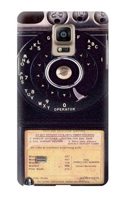S0086 ヴィンテージ 公衆電話 Payphone Vintage Samsung Galaxy Note 4 バックケース、フリップケース・カバー