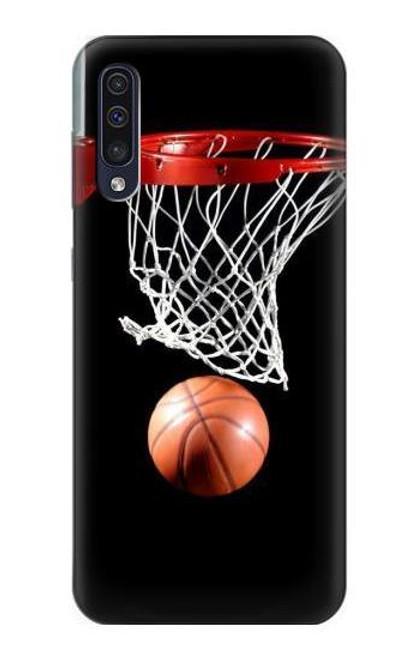 S0066 バスケットボール Basketball Samsung Galaxy A50 バックケース、フリップケース・カバー