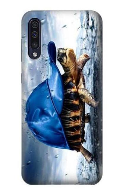 S0084 雨でかめ Turtle in the Rain Samsung Galaxy A50 バックケース、フリップケース・カバー