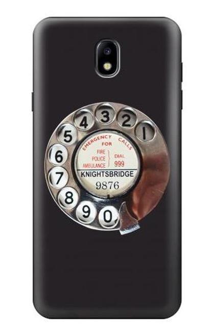 S0059 レトロなダイヤル式の電話ダイヤル Retro Rotary Phone Dial On Samsung Galaxy J7 (2018) バックケース、フリップケース・カバー
