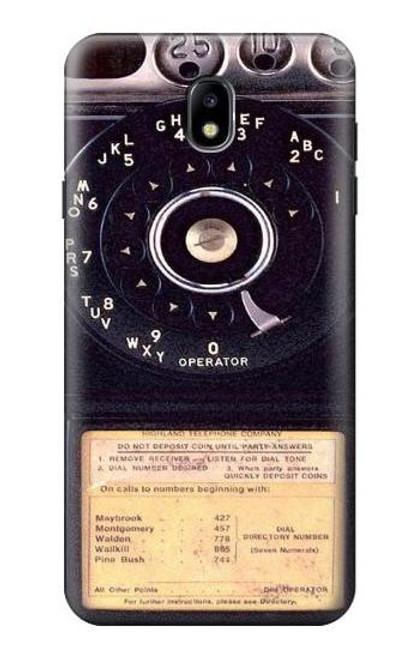 S0086 ヴィンテージ 公衆電話 Payphone Vintage Samsung Galaxy J7 (2018) バックケース、フリップケース・カバー